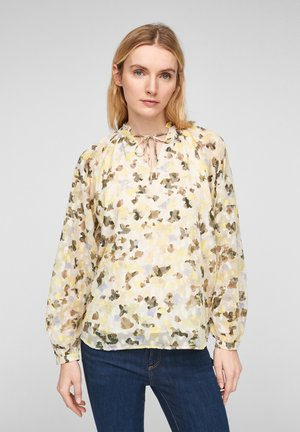MIT ALLOVER PRINT - Blouse - offwhite aop