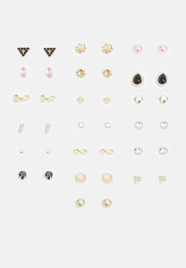 PCALIENA EARSTUDS 20 PACK - Boucles d'oreilles - gold-coloured