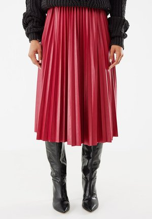 A-line skirt - wine red
