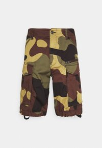 ROVIC ZIP RELAXED - Shorts - olive/brown/beige