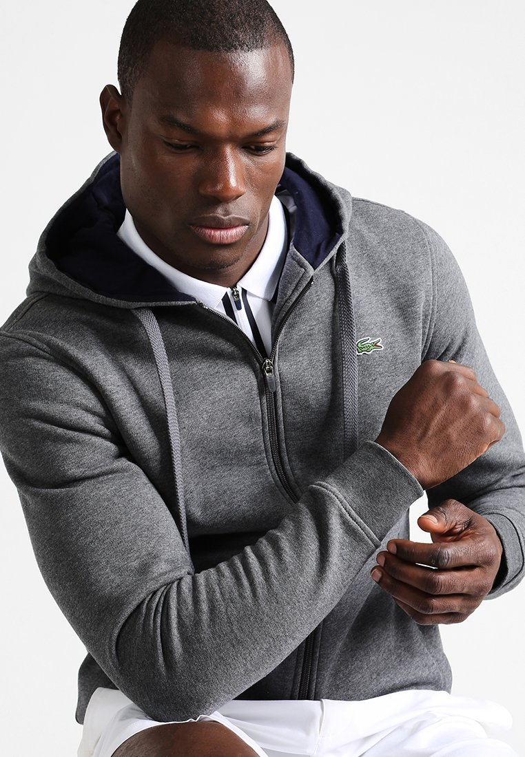 Lacoste Sport - Zip-up hoodie - pitch/navy blue