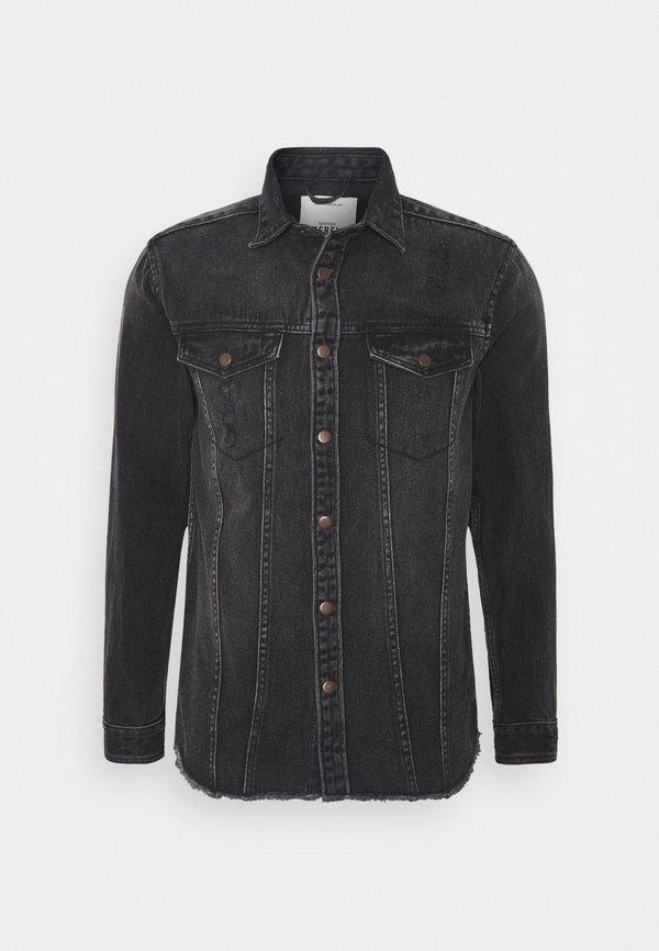 Redefined Rebel JACKSON JACKET - Koszula - black/grey/szary denim Odzież Męska SLSV