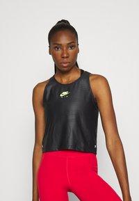 Nike Performance - AIR TANK - Camiseta de deporte - black/volt - 0