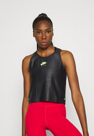 AIR TANK - Sports shirt - black/volt