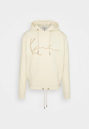 SIGNATURE HOODIE UNISEX - Jersey con capucha - beige