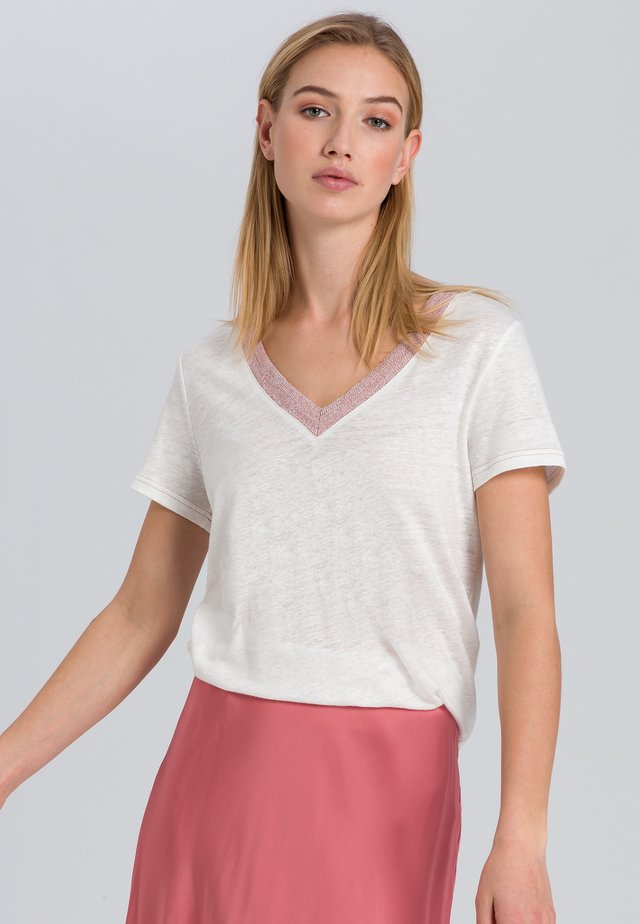 Basic T-shirt - off white varied