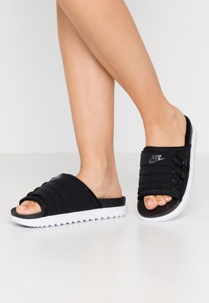 CITY SLIDE - Ciabattine - black/anthracite/white