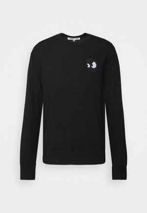 MONSTER BADGE CLASSIC CREW - Jumper - black