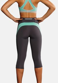 Anita - CAPRI  FITNESS - 3/4 sports trousers - pool blue anthrazit - 2