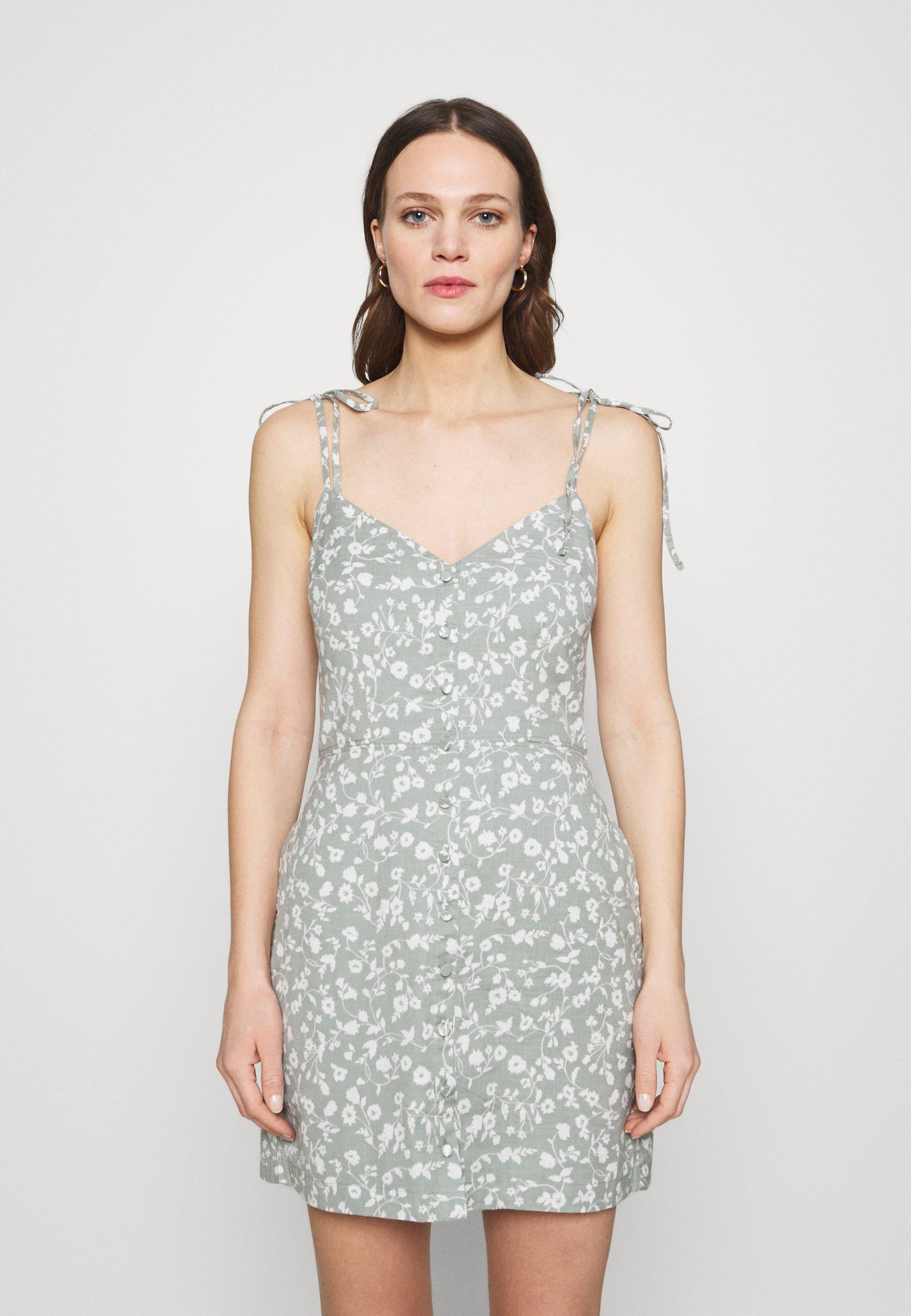 Women TIE STRAP SHORT DRESS - Day dress