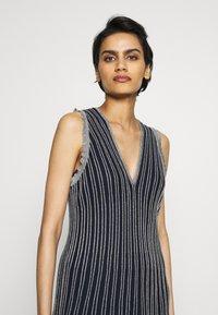 M Missoni - DRESS - Strikket kjole - blue silver - 3