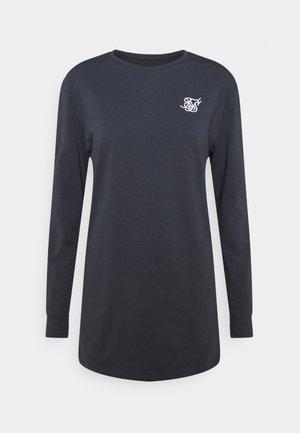 STRAIGHT HEM GYM TEE - T-shirt à manches longues - navy