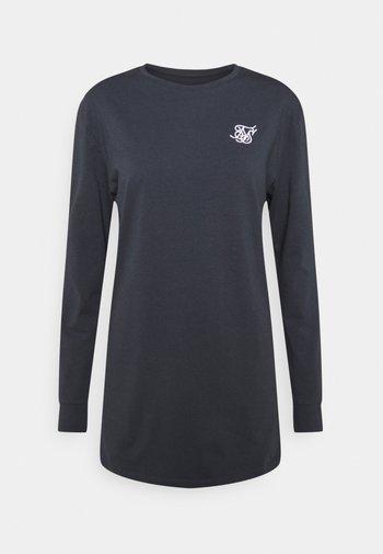 STRAIGHT HEM GYM TEE - Long sleeved top - navy