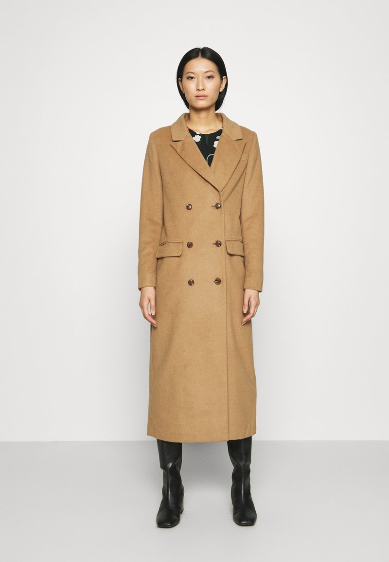 Who What Wear - DOUBLE BREASTED COAT - Zimní kabát - camel