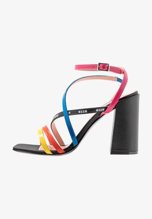 DONNA WOMANS - Sandały na obcasie - multicolor/black