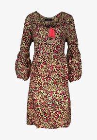 Zwillingsherz - Day dress - leo pink braun - 0