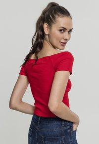 Urban Classics - Print T-shirt - fire red - 2