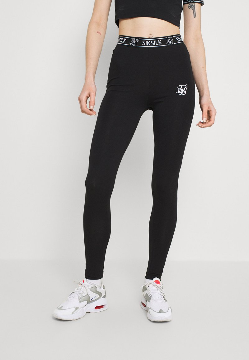 SIKSILK - CORE LEGGINGS - Leggings - Trousers - black