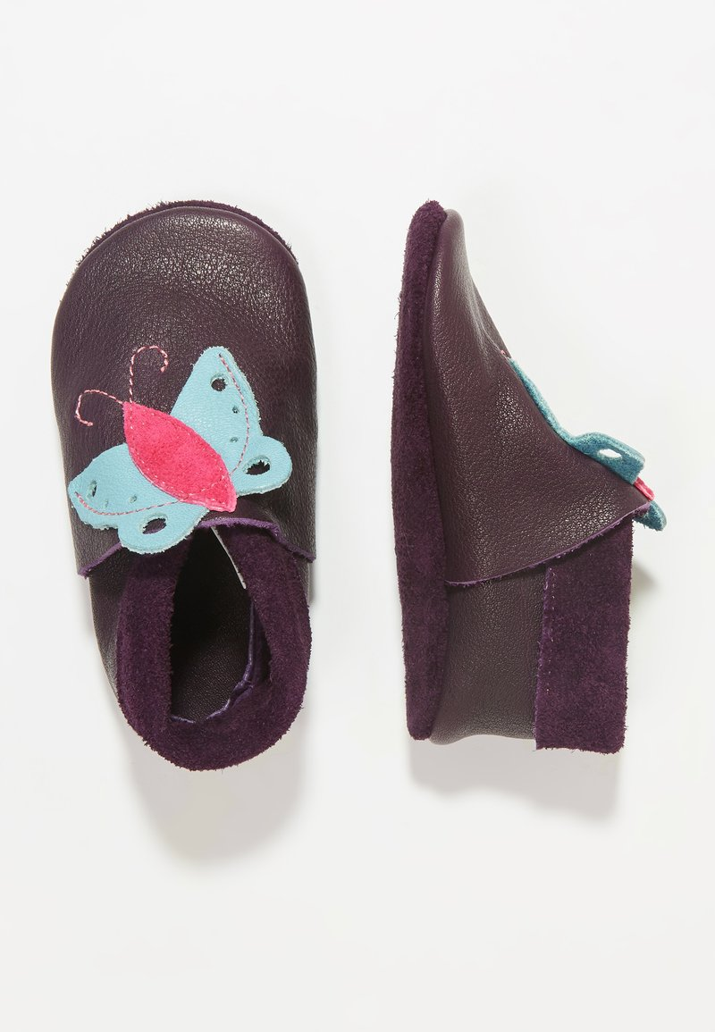POLOLO - BUTTERFLY - First shoes - aubergine
