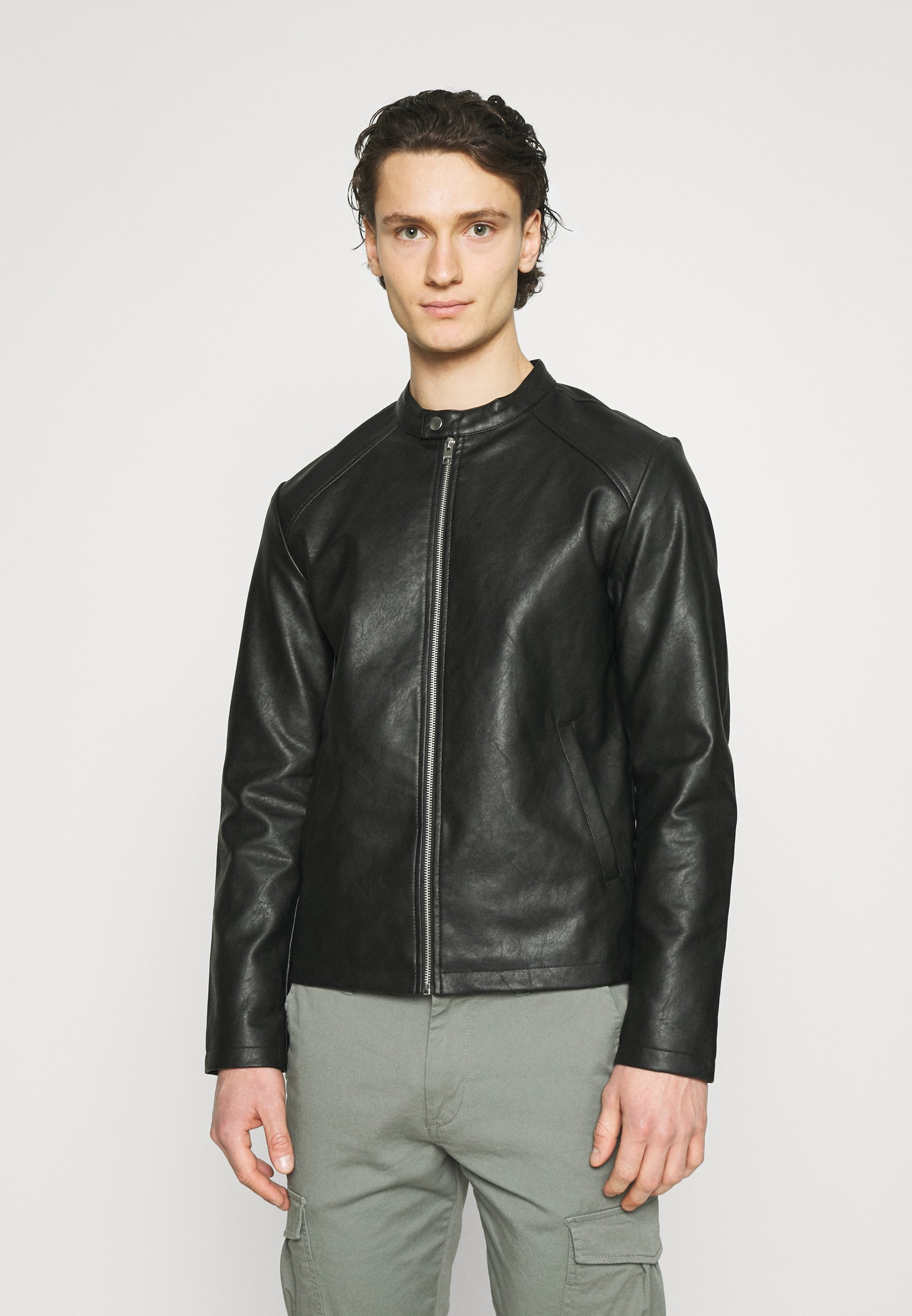 Men JORCONNOR JACKET - Faux leather jacket