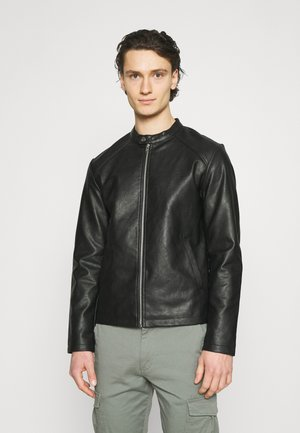 JORCONNOR JACKET - Faux leather jacket - black
