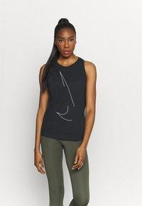Nike Performance - DRY TANK  YOGA - Sports shirt - black - 0