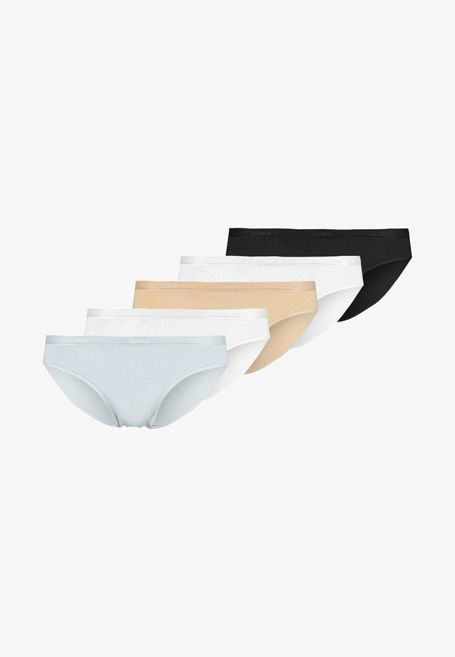 POCKET ECODIMBRIEF 5 PACK - Briefs - noir/peau/blanc/gris/blanc