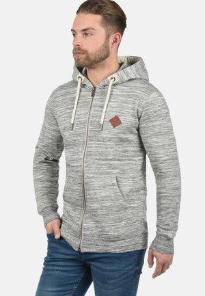 KAPUZENSWEATJACKE CRAIG - Zip-up sweatshirt - light grey
