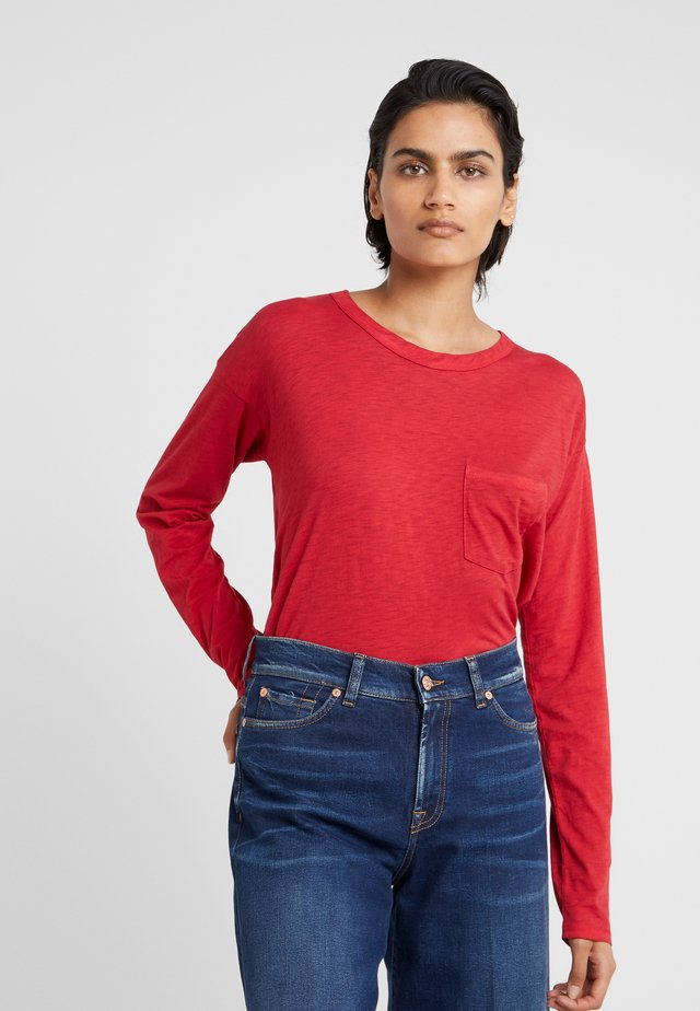 THE CROPPED - Long sleeved top - redmaple