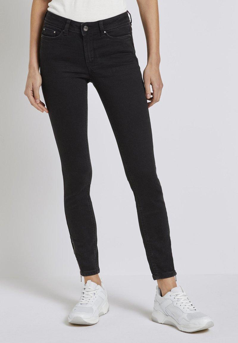 TOM TAILOR DENIM - Jeans Skinny Fit - used dark stone black denim