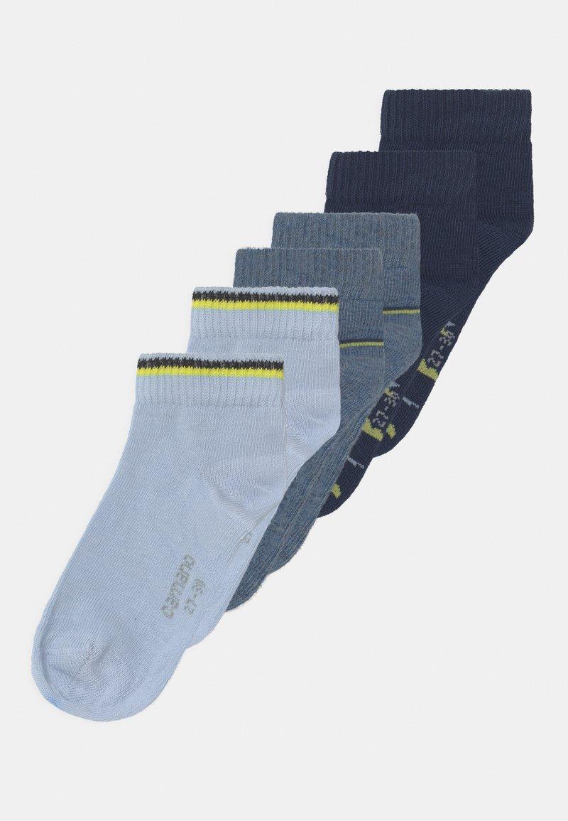 camano - QUARTERS 6 PACK - Socks - blue