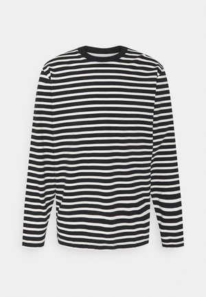 SLHRELAXCOLMAN O NECK TEE  - Långärmad tröja - black/egret