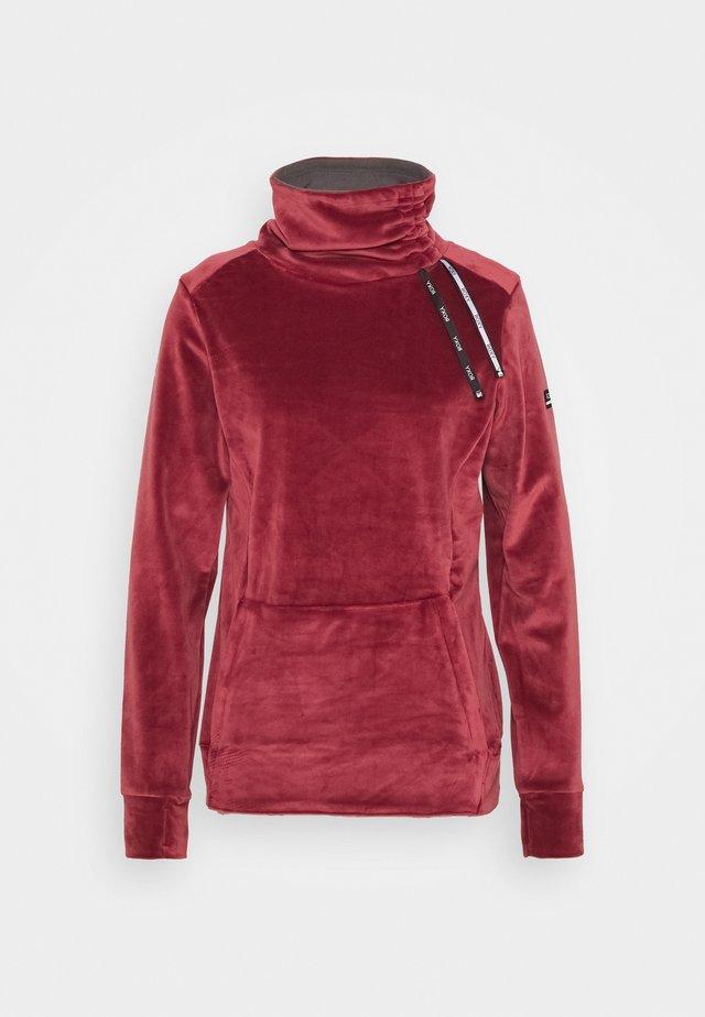 DELTINE  - Fleecová mikina - oxblood red