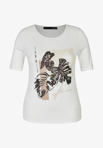 PAILLETTEN - Print T-shirt - weiã