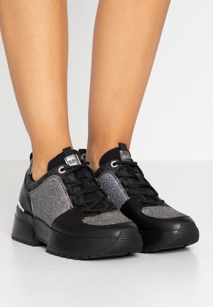 COSMO TRAINER - Matalavartiset tennarit - black/silver