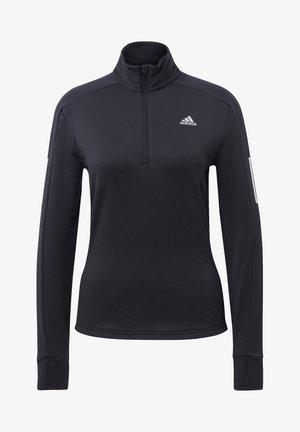 WARM  - Sweater met rits - black