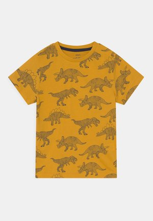 DINO - T-shirt print - dark gold