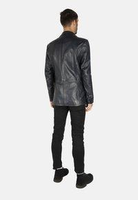 LEATHER HYPE - HYPE BLAZER - Leather jacket - royal blue - 2
