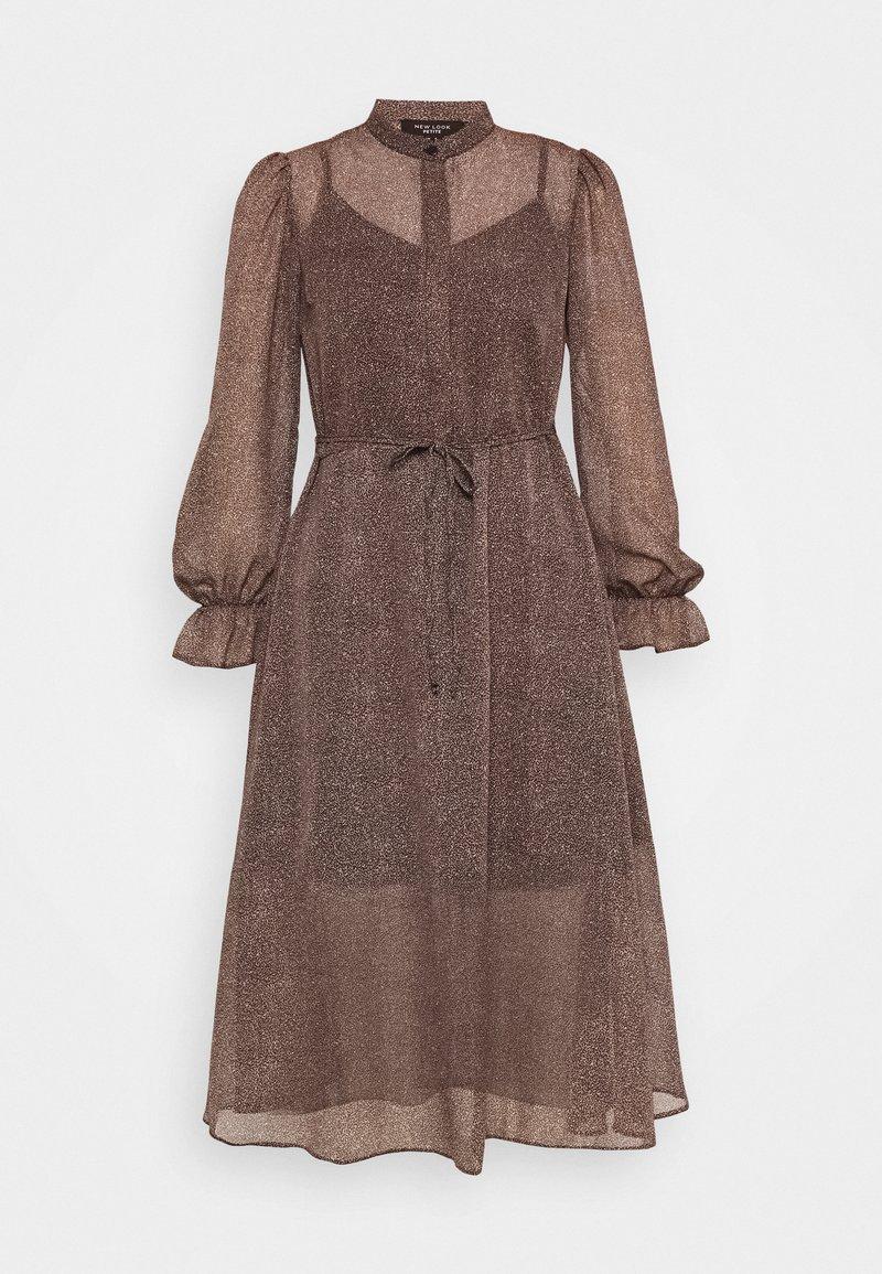 New Look Petite - MINI ANIMAL MIDI DRESS - Day dress - brown pattern