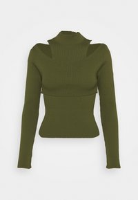 Topshop - CUT OUT TWO PIECE 2-IN-1 - Top - khaki - 0