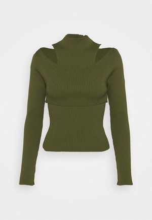 CUT OUT TWO PIECE 2-IN-1 - Toppi - khaki