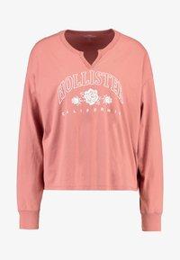 Hollister Co. - LONG SLEEVE DESTINATION - Top sdlouhým rukávem - pink - 3