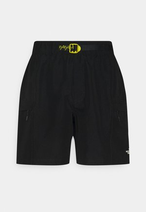 CLASS V BELTED - Outdoor shorts - black/mustard yellow