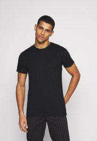 Denim Project - 5 PACK  - T-shirt - bas - olive night melange/bordeaux melange - 7