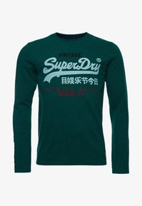 Superdry - Long sleeved top - forest green marl - 3