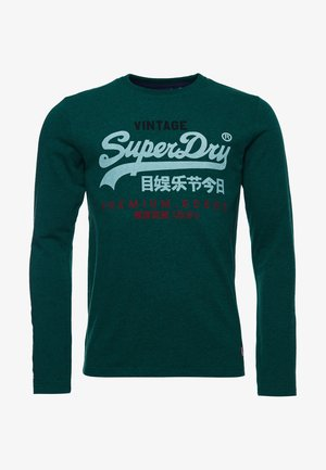 Long sleeved top - forest green marl