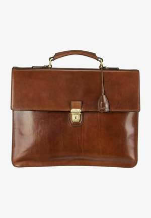 Borsa porta PC - marrone/oro