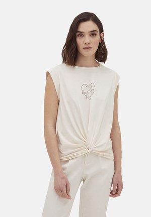 Camiseta estampada - bianco