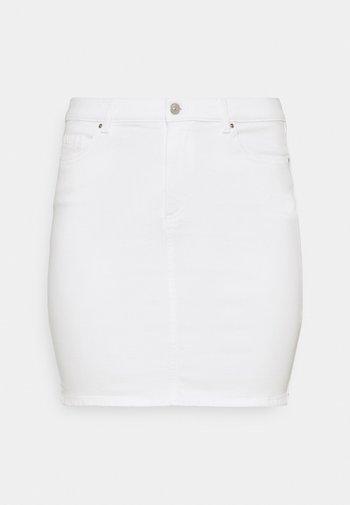 PCLIL SKIRT - Mini skirt - bright white