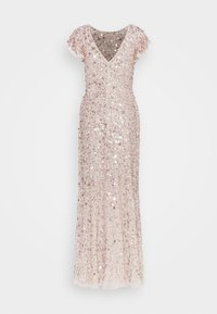 Maya Deluxe - FLUTTER SLEEVE ALL OVER SEQUIN MAXI DRESS - Ballkjole - rose gold - 0